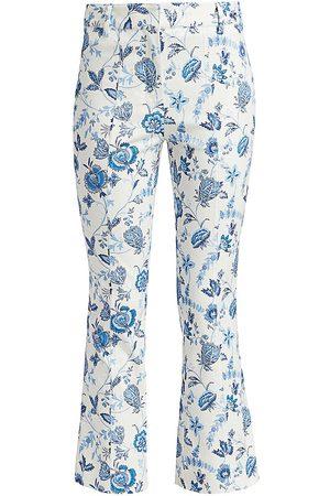 Derek Lam Women's Meloe Floral Cropped Flare Trousers - - Size 12