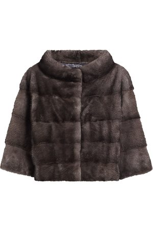The Fur Salon Women's Julia & Stella For Mink Fur Cropped Bolero Jacket - - Size Large