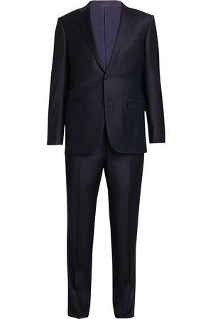 Ermenegildo Zegna Men's Trofeo Pindot Wool Suit - - Size 52 (42) L