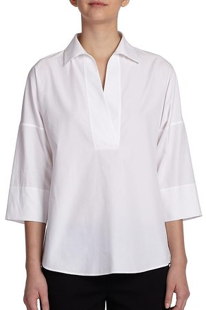 AKRIS Women's Elements Cotton Kimono Blouse - - Size 16