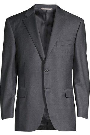 CANALI Men's Regular Fit Solid Two-Piece Suit - - Size 56 (46) L
