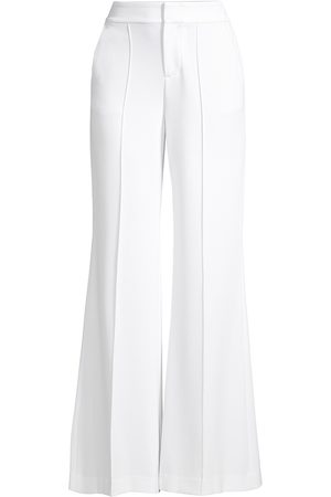 ALICE+OLIVIA Women's Dylan High-Waist Wide-Leg Pants - - Size 8