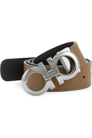 Salvatore Ferragamo Men's Adjustable & Reversible Gancini Leather Belt - - Size 44