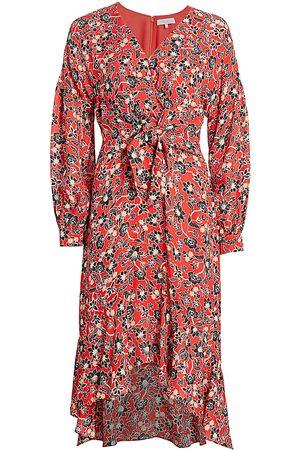 Parker Women's Kinsale Tie-Front Silk Georgette Midi Dress - - Size 6