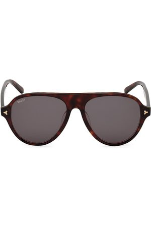 Bally Men's 57MM Plastic Aviator Sunglasses