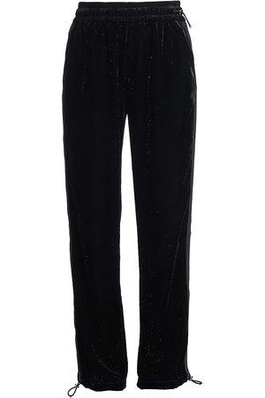 Moncler Women's Glitter Velvet Sweatpants - - Size Large