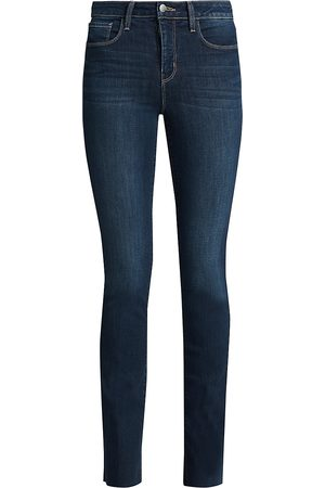 L'Agence Women's Ruth High-Rise Straight Jeans - - Size 32 (12)