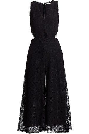 Olivia Palermo Women's Lace Culotte Jumpsuit - - Size 10
