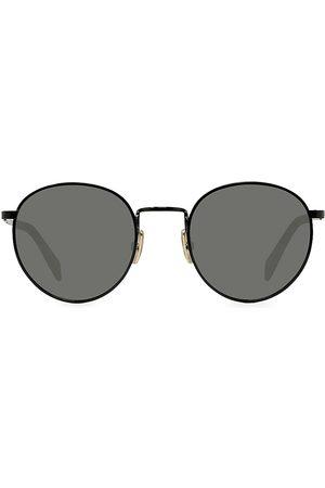 Céline Men Round - Men's 50MM Medium Round Havana Sunglasses