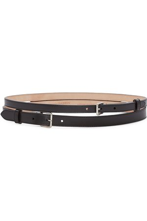 Alexander McQueen Women's Thin Double Leather Belt - - Size XS (70)