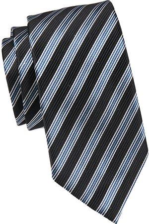 Emporio Armani Men's Diagonal Stripe Silk Tie