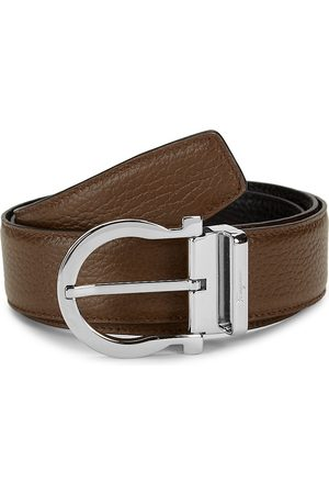 Salvatore Ferragamo Men's Gancio Reversible Leather Belt - - Size 44