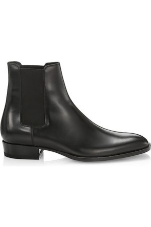 Saint Laurent Men's Wyatt Leather Chelsea Boots - - Size 39 (6)