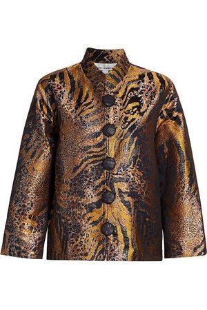 Caroline Rose Women's Going Somewhere Jacquard Jacket - - Size XS