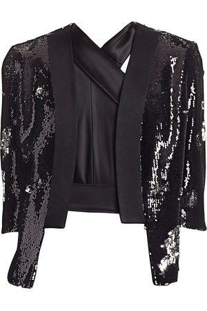 GALVAN Women's Salar Sequin Jacket - - Size XS