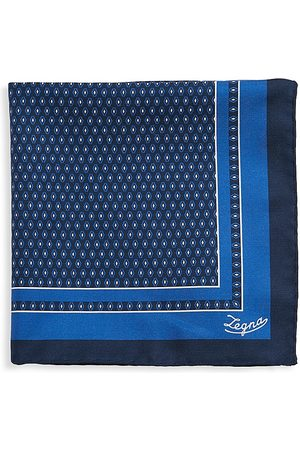 Ermenegildo Zegna Men's Diamond Silk Pocket Square