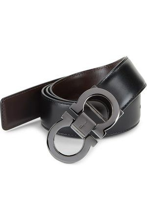Salvatore Ferragamo Men's Adjustable & Reversible Gancini Buckle Belt - - Size 46