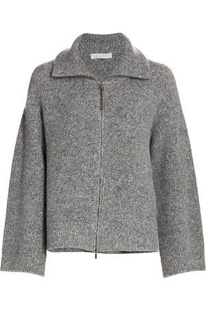 Fabiana Filippi Women's Bouclé Knit Stand-Collar Zip-Front Cardigan - - Size 42 (6)