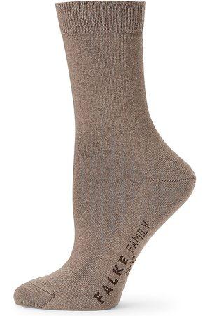 Falke Women Socks - Women's Family Cotton Socks - Pebble - Size 8