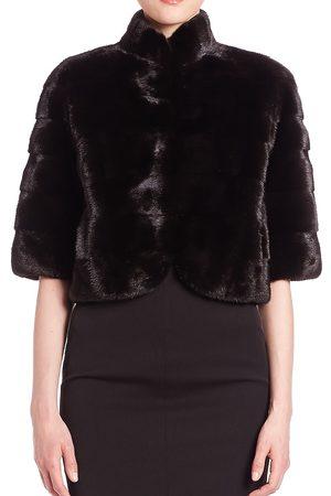 The Fur Salon Women's Mink Fur Bolero - - Size Medium