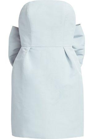 Alexia Maria Women's Silk Faille Bow-Back Mini Dress - - Size 8