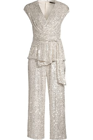 Jay Godfrey Women's Susie Cropped Sequin Jumpsuit - - Size 0