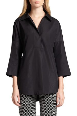 AKRIS Women's Elements Cotton Kimono Blouse - - Size 14