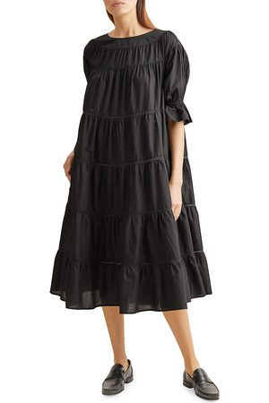 Merlette Women's Paradis Puff-Sleeve Cotton Trapeze Dress - - Size XS