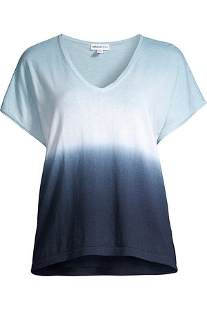 MINNIE ROSE Women's Cotton-Cashmere Dip-Dye Shirt - - Size XS-Small