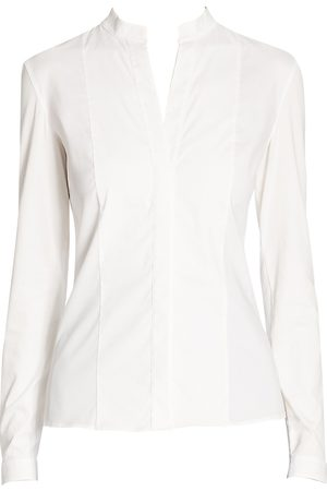 AKRIS Women's Elements Poplin Blouse - - Size 14