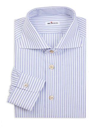Kiton Men's Border Stripe Dress Shirt - - Size 39 (15.5)