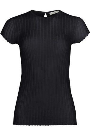Joie Women's Filana Rib-Knit T-Shirt - - Size Large