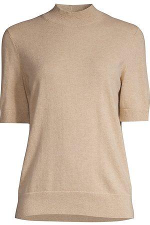 Lafayette 148 New York Women's Mockneck Cashmere Sweater - - Size XL