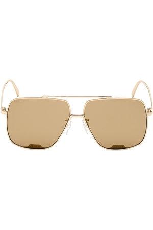 Bally Men's 60MM Square Aviator Sunglasses