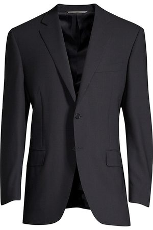CANALI Men's Classic Fit Wool Blazer - - Size 50 (40) R