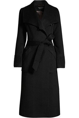 Sentaler Women's Long Wide-Collar Alpaca Wrap Coat - - Size Medium