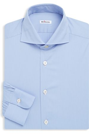 Kiton Men's Classic Cotton Dress Shirt - - Size 44 (17.5)