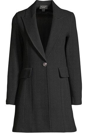 ST. JOHN Women's Peaked Lapel Blazer - - Size 14