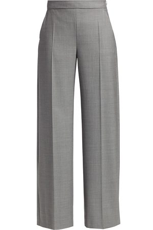 Max Mara Women's Wool Wide-Leg Pants - - Size 8