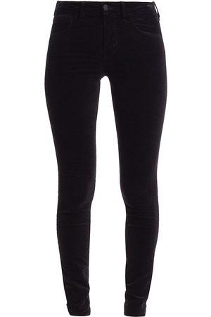 L'Agence Women's Marguerite High-Rise Velvet Skinny Jeans - - Size 32 (12)
