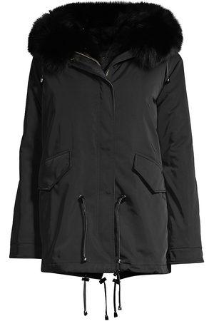 Nicole Benisti Women's Ludlow Fur Trim Parka - - Size XS