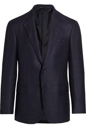 Armani Men's Mini Box Plaid Sportcoat - - Size 52 (42) R