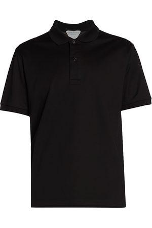 Bottega Veneta Men's Dry Piquet Cotton Polo - - Size Medium