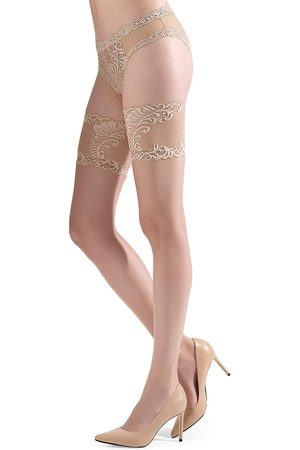 Natori Women's Silky Sheer Lace Thigh Highs - - Size Small-Medium