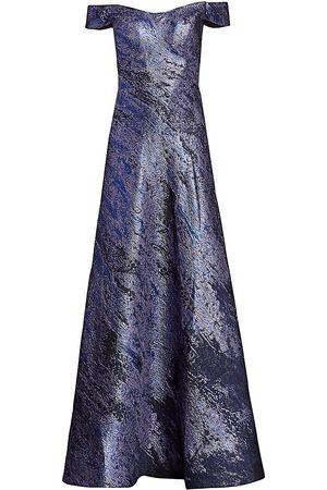 Rene Ruiz Collection Women's Brocade Off-The-Shoulder Gown - - Size 18