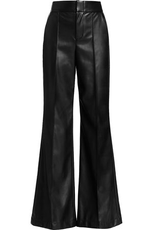 ALICE+OLIVIA Women's Dylan Vegan Leather Wide-Leg Pants - - Size 10