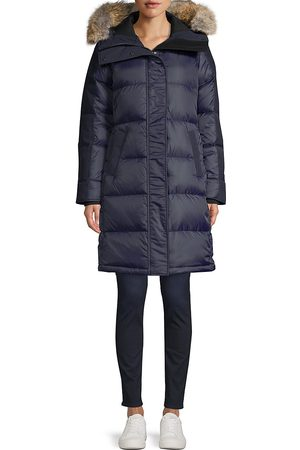 Canada Goose Women's Label Rowley Fur-Trim Down Parka - Admiral - Size Large