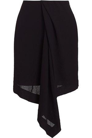 Nina Ricci Women's Draped Asymmetric Skirt - - Size 38 (6)