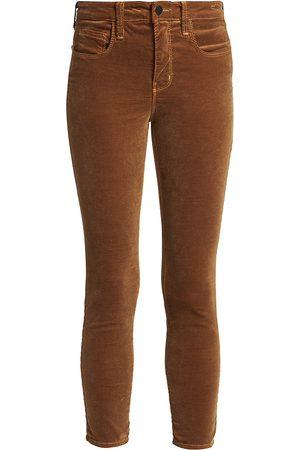 L'Agence Women's Margot High-Rise Ankle Skinny Velvet Jeans - - Size 28 (6)