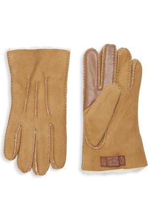 UGG Men's Men's Contrast Sheepskin Touch Tech Gloves - - Size Medium